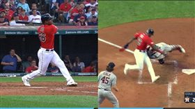 ▲普伊格(Yasiel Puig)轉隊首戰敲二壘安打。(圖/翻攝自MLB官網)