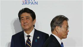 安倍晉三、文在寅、日本、韓國、日韓貿易戰 圖/美聯社/達志影像