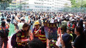香港,反送中,旺角,警民,示威