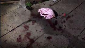 台北,中山,民生東路,砍人,傷害。翻攝畫面