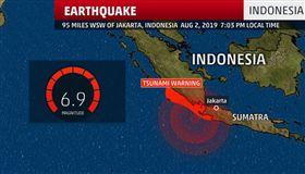 印尼蘇門答臘外海強震 已知4死4傷(圖/翻攝自推特)