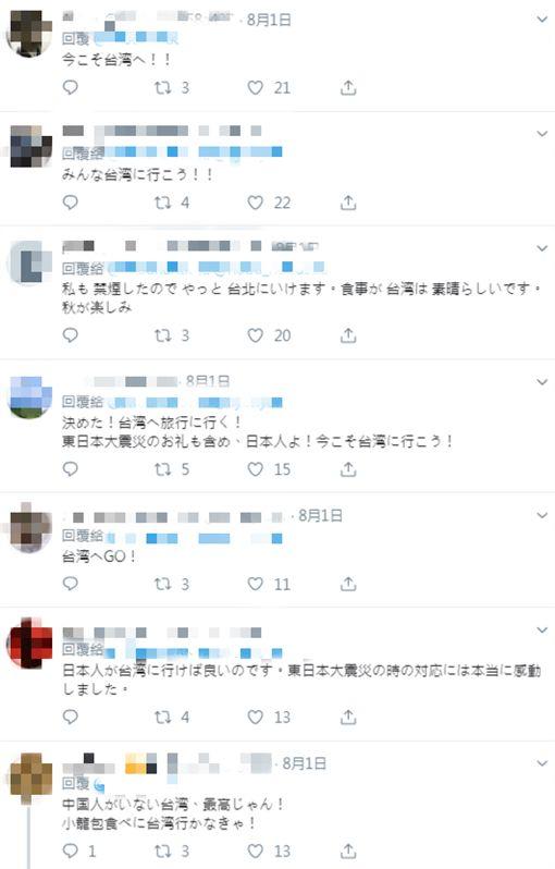 中國禁來台自由行!日媒大推:這是來台灣旅遊的大好時機 圖翻攝自推特