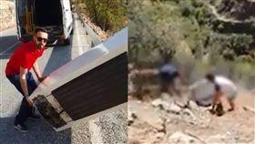 廢棄冰箱丟山谷…嘻笑男被罰「自己下山撿」累爆 網大讚 合成圖翻攝自augc_guardiacivil IG、Guardia Civil臉書