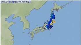 (圖/翻攝自日本氣象廳)日本,福島,地震