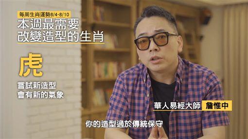詹惟中生肖運勢 圖/YT