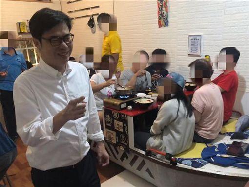 陳其邁,釣客食堂(圖/翻攝自釣客食堂臉書)