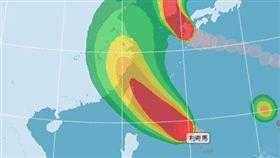 颱風,利奇馬,暴風侵襲機率圖