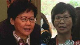 網友指台北市政府顧問蔡壁如撞臉香港特首林鄭月娥。(組合圖/資料照、記者盧素梅攝)