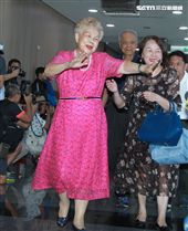柯媽媽出席台灣民眾黨成立大會。(記者邱榮吉/攝影)