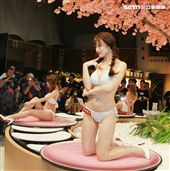 日本AV女優高橋聖子長相甜美,擁有傲人G奶曾被譽為「寫真巨乳救世主」。(記者邱榮吉/攝影)