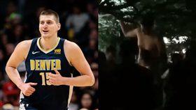 NBA/流出!金塊球星祖國甩奶熱舞 NBA,丹佛金塊,Nikola Jokic,塞爾維亞,過重 翻攝自推特