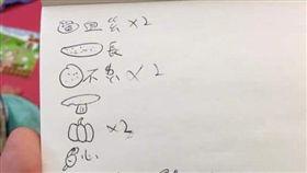 燒烤,菜單,翻譯,注音,圖畫(翻攝自爆怨公社)