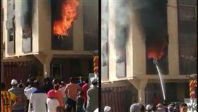 摩洛哥海米薩特發生火警,女童被卡鐵窗內活活燒死。(圖/翻攝自臉書/Ayoub Bnider)