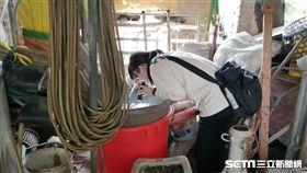 疾管署防疫人員於台南市安南區公塭里執行孳生源查核。(圖/疾管署提供)