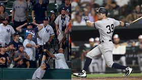 ▲塔克曼(Mike Tauchman)敲全壘打、沒收對手全壘打。(圖/翻攝自MLB官網/美聯社)