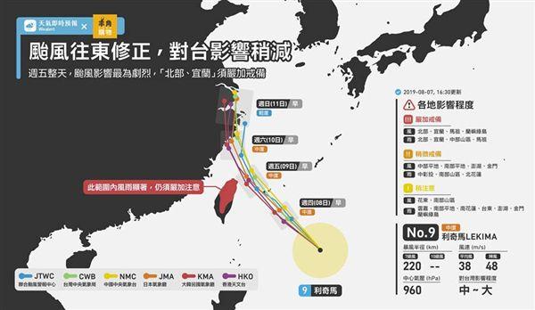 利奇馬颱風,利奇馬,颱風,天氣即時預報,氣象局,海警