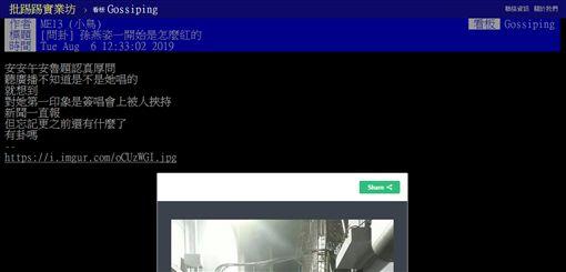 孫燕姿,爆紅,周杰倫,最佳新人,金曲獎,PTT 圖/翻攝自PTT