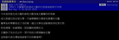 成功大學,台北醫學大學,醫學院,分數,PTT 圖/翻攝自PTT