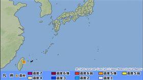 0808宜蘭外海地震_圖/日本氣象廳