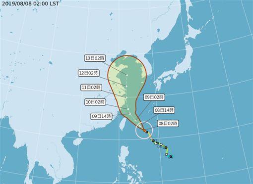 颱風「利奇馬」 氣象局