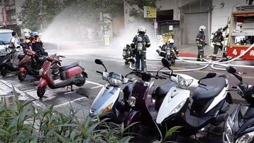 台北,地震,南港,瓦斯漏氣,災情,園區路。翻攝畫面