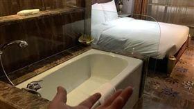 飯店,酒店,浴缸,情趣,裸露(圖/翻攝自爆廢公社)
