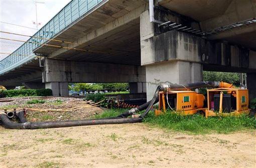 颱風利奇馬,陸上警報,移動式抽水機,沙包,防災(圖/嘉義市政府提供)