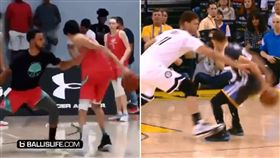 NBA/傻眼!美超強高中生硬吃柯瑞 NBA,金州勇士,Stephen Curry,Chet Holmgren 翻攝自推特Ballislife