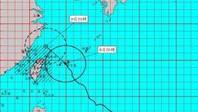 陸警再擴大!利奇馬暴風圈最快22點觸陸 北台吹11級風(圖/翻攝自中央氣象局)