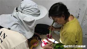 疾管署防疫人員於台南市東區執行孳生源查核。(圖/疾管署提供)