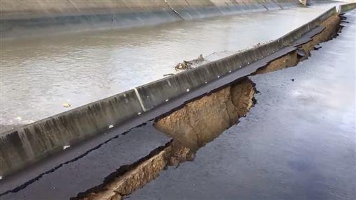 利其馬,颱風,防汛道路,嘉義/翻攝臉書