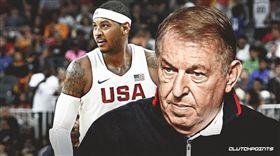 籃球/美國隊拒甜瓜 總監:動機不純 NBA,美國隊,甜瓜,Carmelo Anthony 翻攝自推特ClutchPoints