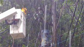 利奇馬颱風釀多戶停電 台電:相關工程人員已全力搶修
