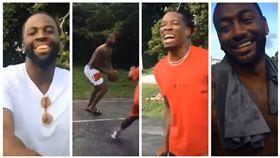NBA/表弟、嘴綠海外組隊電爆路人 NBA,DeMarcus Cousins,Eric Bledsoe,John Wall,Draymond Green,肯塔基大學,金州勇士 翻攝自推特