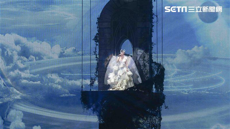周慧敏「一萬天荒愛未老」出道30周年演唱會 。(圖/記者林士傑攝影)