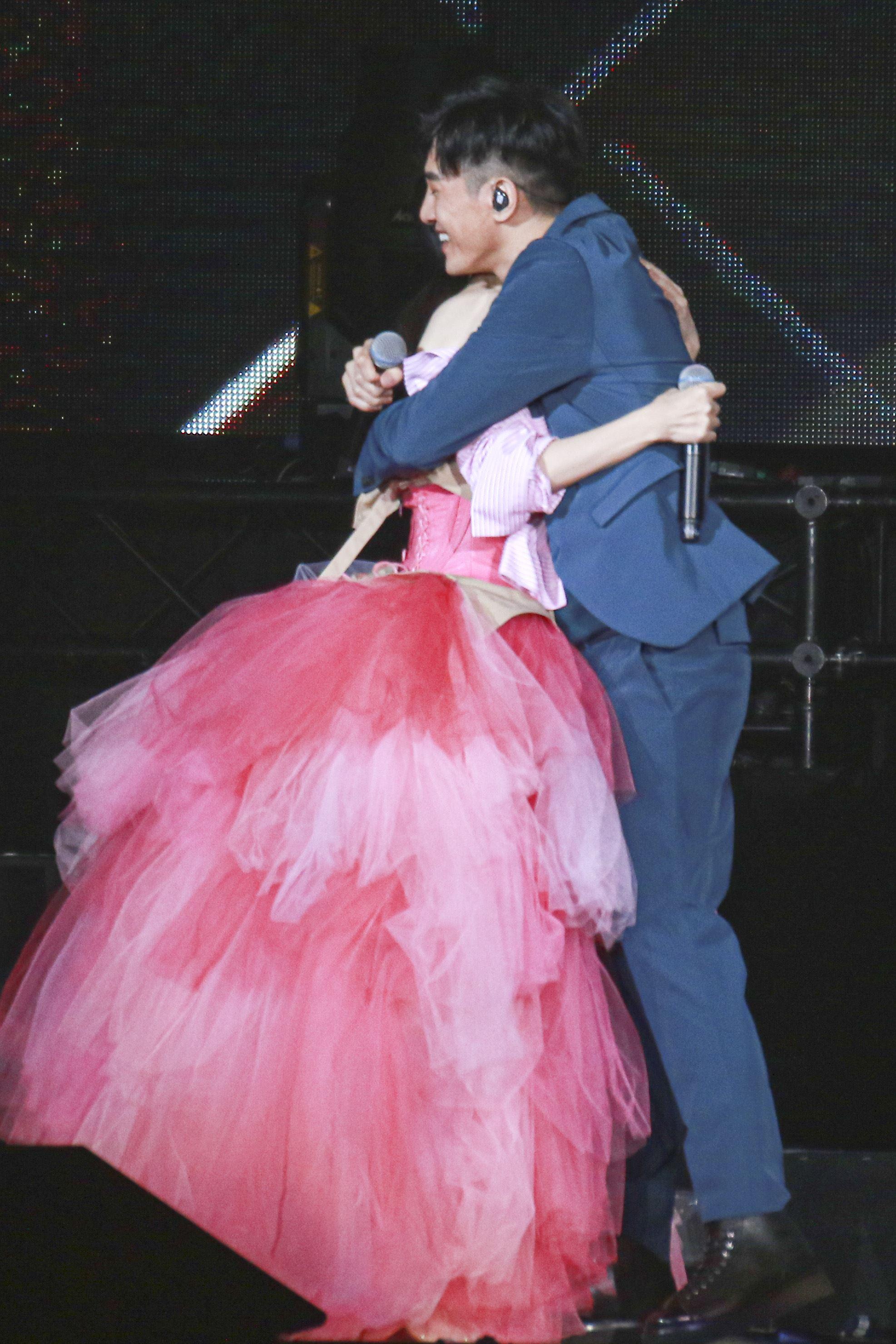 周慧敏「一萬天荒愛未老」出道30周年演唱會,張立昂出席擔任嘉賓 。(圖/記者林士傑攝影)