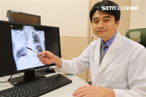 呂庭聿,肺炎圖/亞大醫院提供