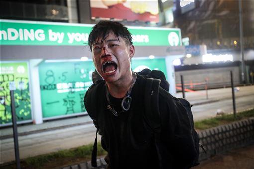香港,反送中,遊行,爆發衝突,對峙(圖/中央社)