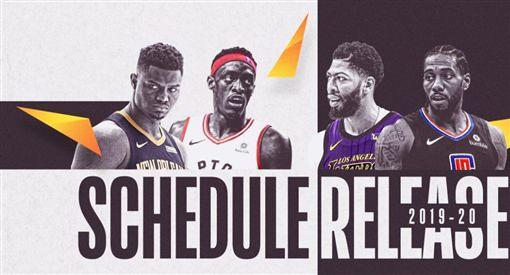 ▲NBA公布新賽季賽程。(圖/取自NBA官網)