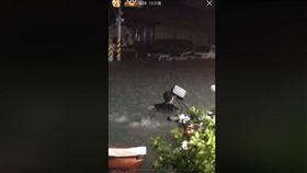 台南大灣淹水 爆廢工社