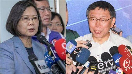 柯文哲,蔡英文 圖/黃宣尹攝影,總統府提供