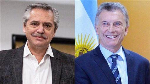 阿根廷,總統,敗選,股市,美元(左圖取自facebook.com/alferdezok、右圖取自facebook.com/mauriciomacri)