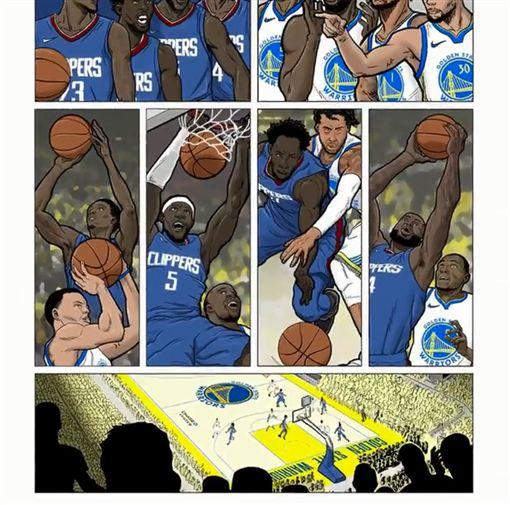 NBA/快艇「漫畫風」公布重要賽程NBA,洛杉磯快艇,Kawhi Leonard,Paul George,賽程翻攝自洛杉磯快艇官方推特