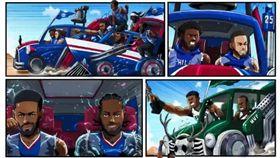 NBA/快艇「漫畫風」公布重要賽程 NBA,洛杉磯快艇,Kawhi Leonard,Paul George,賽程 翻攝自洛杉磯快艇官方推特