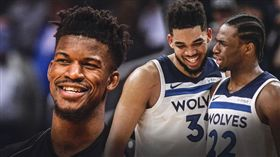 NBA/灰狼開幕戰 迎戰舊將巴特勒 NBA,明尼蘇達灰狼,開幕戰,邁阿密熱火,Jimmy Butler 翻攝自推特ClutchPoints