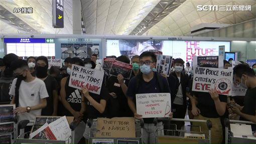 0813今日香港機場畫面(圖/AP授權)