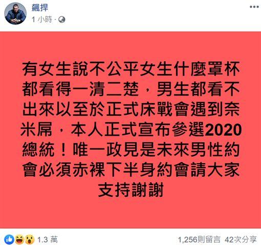 館長正式宣布參選總統 政見出爐了 圖/臉書