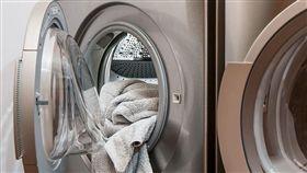 洗衣服,洗衣機,曬衣服 (圖/翻攝自PIXABAY)