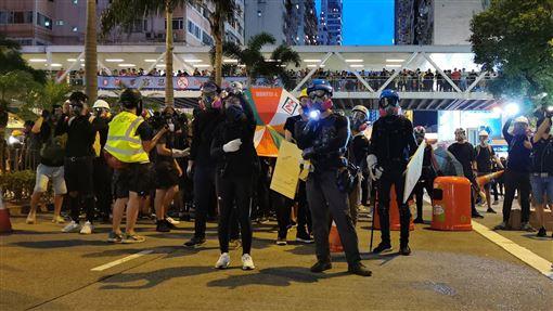 香港,反送中,政治危機,中國,拒絕,美軍艦(圖/中央社)