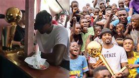 NBA/曾乞食求生 他奪冠榮返舊地 NBA,多倫多暴龍,Serge Ibaka,剛果,乞食 翻攝自推特